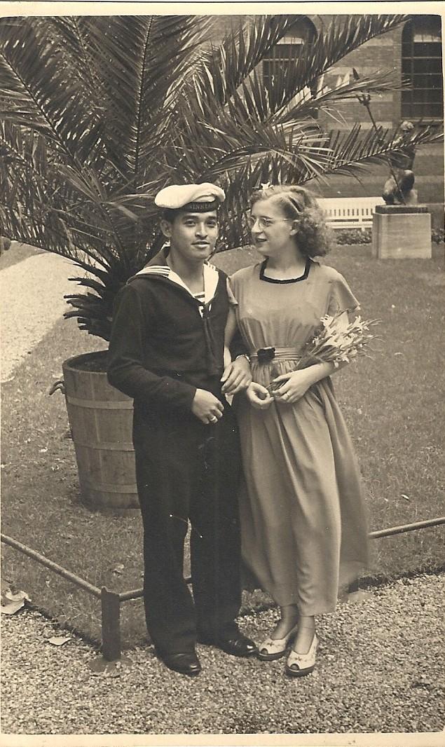 Trouwdag van Joanne met Lud Weiss