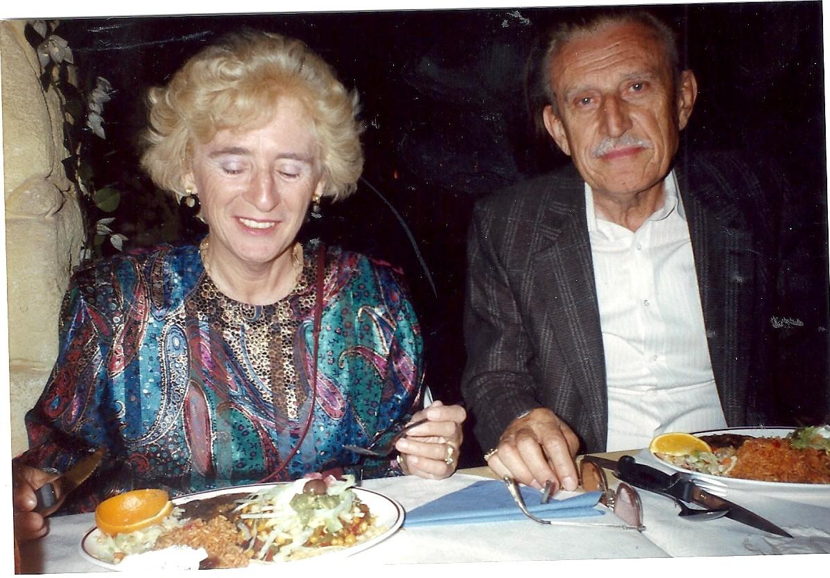 Joanne en ted bij de Mexicaan